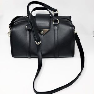 Topshop Black Leather Crossbody Purse